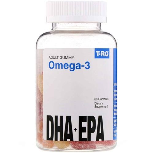 T-RQ Adult Gummy Omega-3 DHA + EPA Lemon Orange Strawberry 60 Gummies