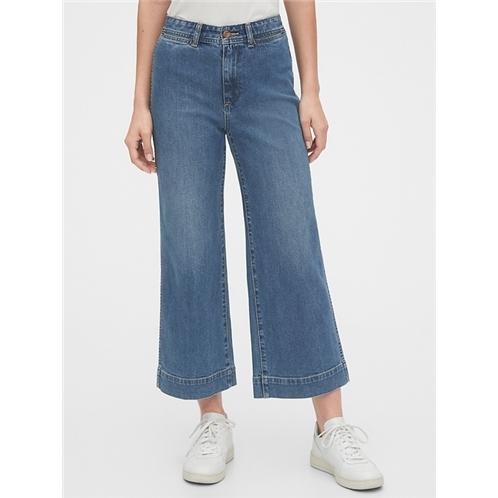 Gap High Rise Wide-Leg Crop Pants