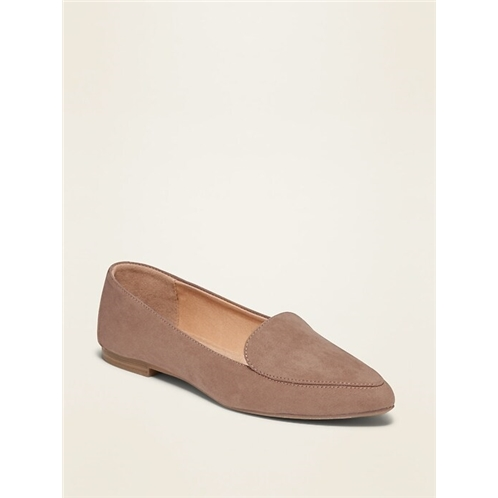 Oldnavy Faux-Suede Pointy-Toe Loafers for Women
