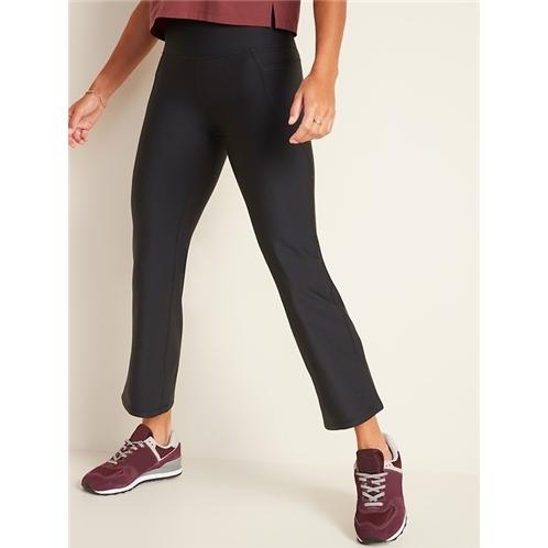 Oldnavy High-Waisted Elevate Powersoft Side-Pocket 7/8-Length Flare Leggings for Women