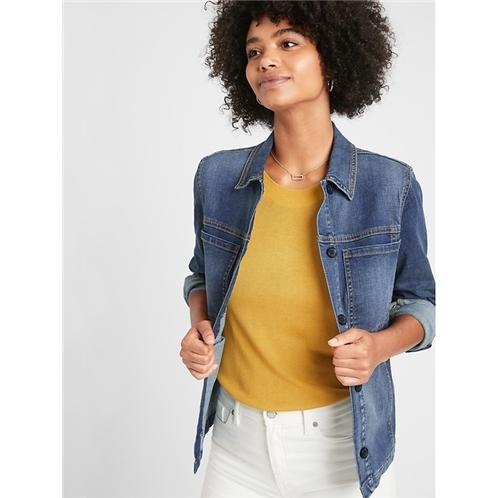 bananarepublic Medium Wash Denim Shirt Jacket