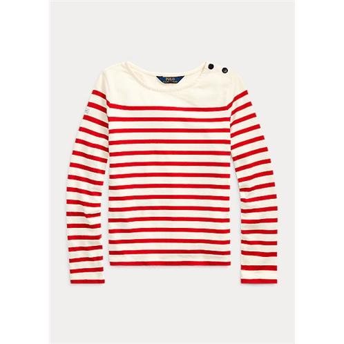 Polo Ralph Lauren Striped Cotton Jersey Top