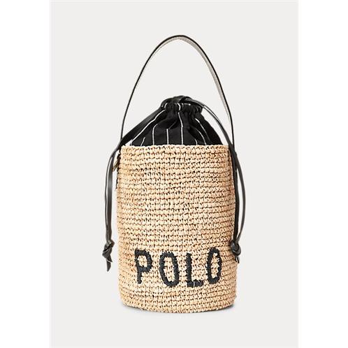 Raffia Mini Bucket Bag