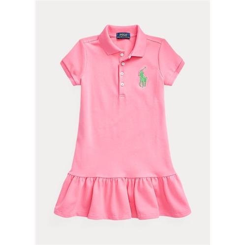 Polo Ralph Lauren Stretch Cotton Mesh Polo Dress