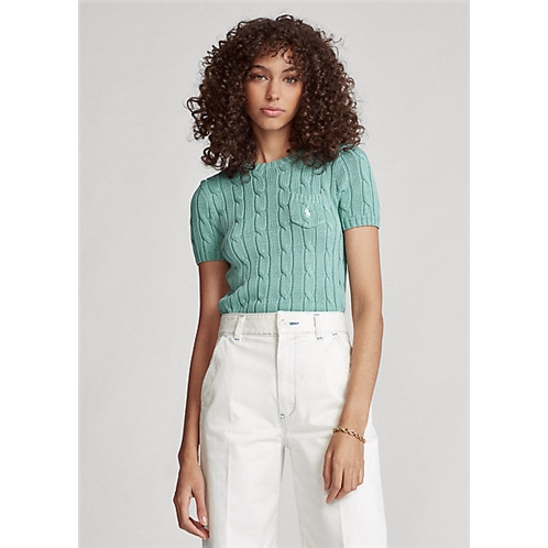 Cable Short-Sleeve Sweater