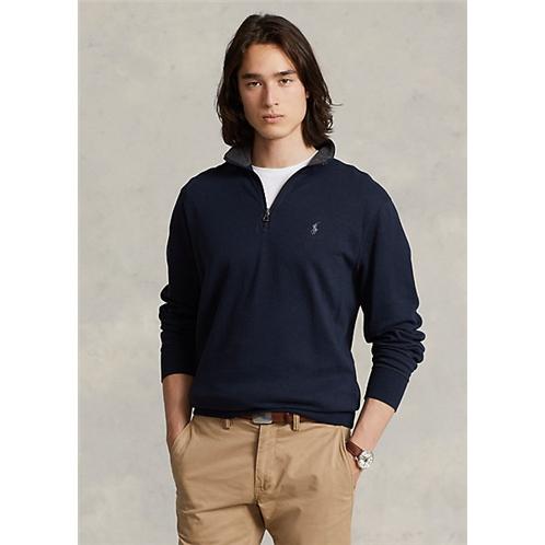 Polo Ralph Lauren Luxury Jersey Quarter Zip Pullover