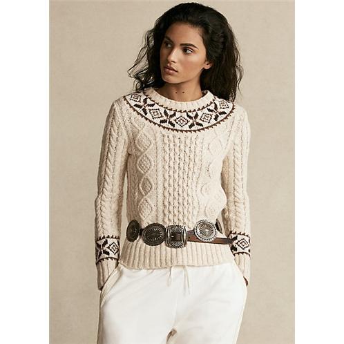 Polo Ralph Lauren Fair Isle Aran Knit Sweater