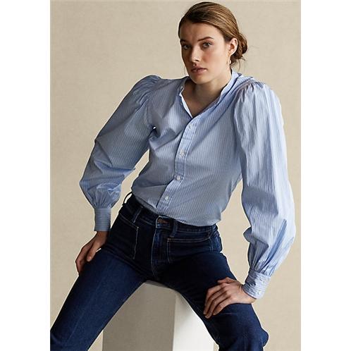 Polo Ralph Lauren Cotton Blouson Sleeve Shirt