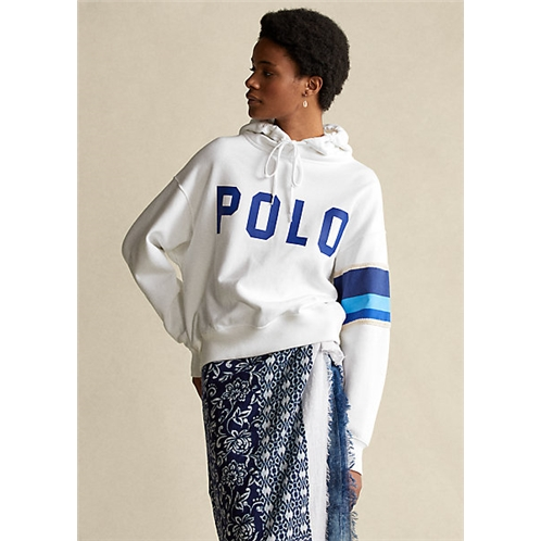 Polo Ralph Lauren Striped-Trim Fleece Hoodie