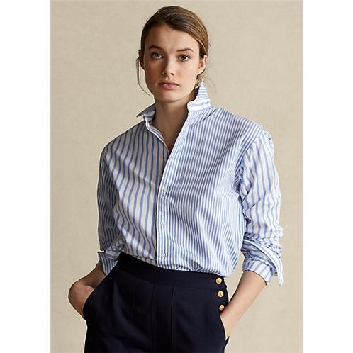 Polo Ralph Lauren Striped Cotton High Low Shirt
