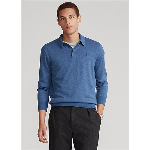 Polo Ralph Lauren Striped Cotton Polo Collar Sweater