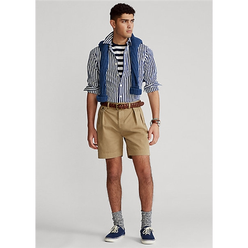 Polo Ralph Lauren 6.5 Inch Relaxed Fit Pleated Chino Short