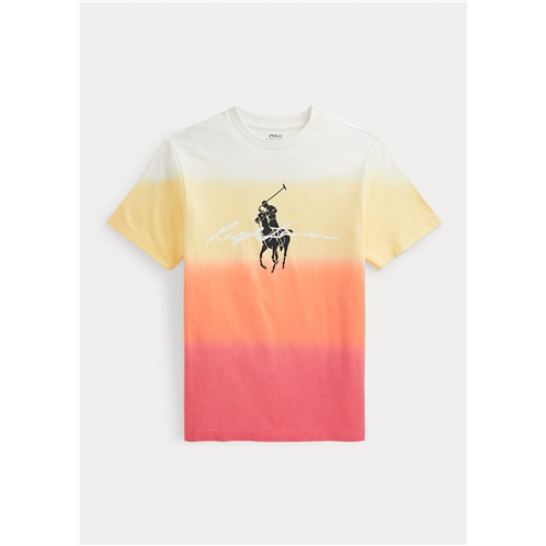 Polo Ralph Lauren Big Pony Logo Dip Dyed Cotton Tee