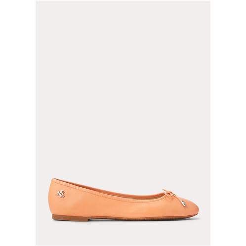 Lauren Jayna Nappa Leather Flat