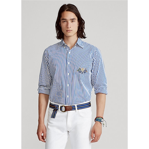 Polo Ralph Lauren Classic Fit Striped Brushed Poplin Shirt