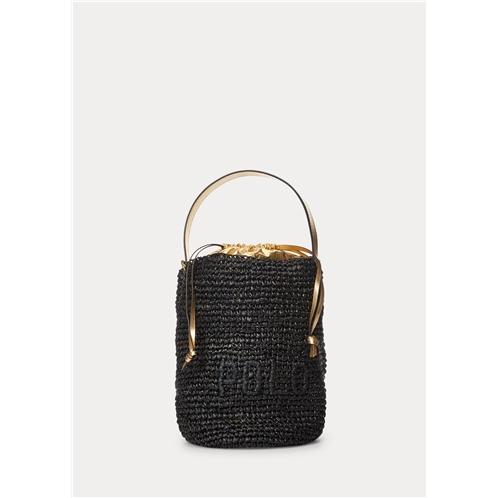 Polo Ralph Lauren Raffia Mini Bucket Bag