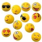 Kangaroo Emoji Universe: 12 Emoji Inflatable Beach Balls, 12-Pack