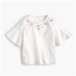 Jcrew Girls flutter-sleeve necklace top