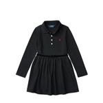 Polo Ralph Lauren Velvet Bow Stretch Polo Dress