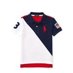 Polo Ralph Lauren Color-Blocked Cotton Mesh Polo