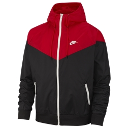 Nike Windrunner Hooded Jacket - Mens / Black/University Red/Sail