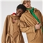 Lacoste Unisex Lightweight Canvas Trench Coat