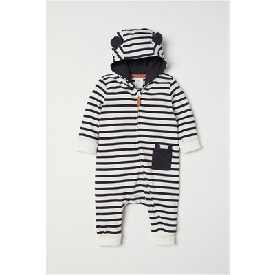 H&M Hooded Jersey Jumpsuit