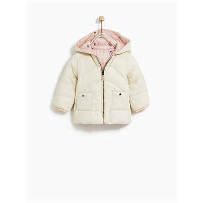 Zara REVERSIBLE PUFFER JACKET