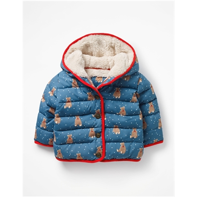 Boden Printed Padded Coat