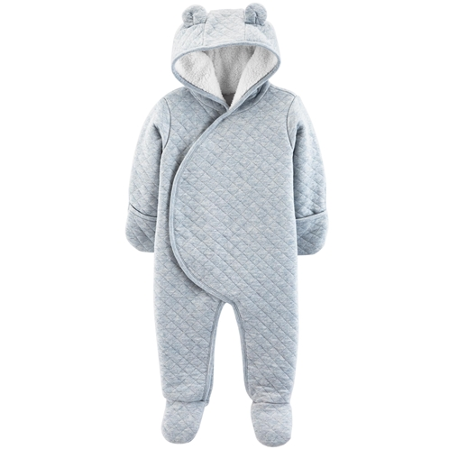 Carters Quilted Heather Hooded Bunting