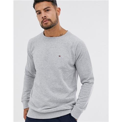 Tommy Hilfiger flag logo sweatshirt in gray marl