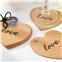 Kate Aspen Heart Cork Coasters (Set of 4)
