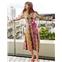 Boden Orella Silk Shirt Dress - Bright Camellia, Garden Charm