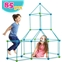 Obuby Kids Crazy Construction Fort Building Kit 85 Pieces Ultimate Forts Builder Gift Build Making Kits Toys for Boys and Girls to DIY Building Castles Tunnels Play Tent Rocket Tow