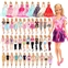 Visit the BARWA Store BARWA 16 Pack Doll Clothes and Accessories 5 PCS Fashion Dresses 5 Tops 5 Pants Outfits 3 PCS Wedding Gown Dresses 3 Sets Swimsuits Bikini for 11.5 inch Doll