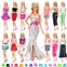 Visit the BARWA Store BARWA Lot 20 Items 10 Set Fashion Handmade Clothes Outfit 10 Pairs Shoes for 11.5 Inch Girl Doll