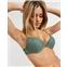 Womensecret botanic lace push-up bra in green