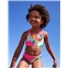 Boden Ruffle Bikini Top - Blue Quartz Tropical Floral